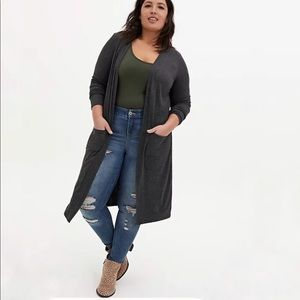 🆕Open Front Cardigan with pockets Sz 2X